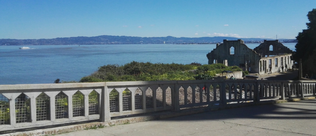 View from Alcatraz Island across San Francisco Bay